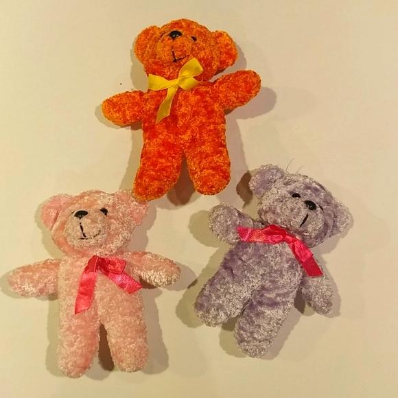 4/$15 🌻 Set of 3 Small Pastel Teddy Bears